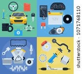 big set of car repair service... | Shutterstock .eps vector #1071768110