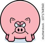 a cartoon illustration of a pig ... | Shutterstock .eps vector #1071768560