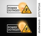"banners ""power outages"" on a... 