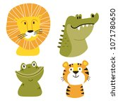 africa vector set. safari... | Shutterstock .eps vector #1071780650