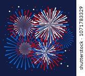 vector holiday firework.... | Shutterstock .eps vector #1071783329