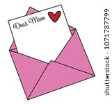 happy mothers day letter | Shutterstock . vector #1071787799