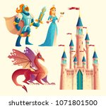 vector set of fantasy  fairy... | Shutterstock .eps vector #1071801500