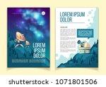 vector astronomy brochure ...   Shutterstock .eps vector #1071801506