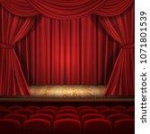 theater vector concept ... | Shutterstock .eps vector #1071801539