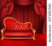 theater vector concept ... | Shutterstock .eps vector #1071801560