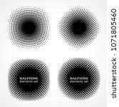 halftone design elements.... | Shutterstock .eps vector #1071805460