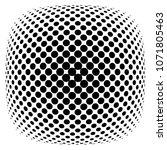 halftone design elements.... | Shutterstock .eps vector #1071805463
