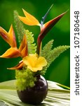 Hibiscus  Heliconia And Bird O...