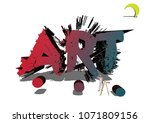 Painter Painting Abstract 3d...