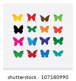 Stock vector butterfly vector 107180990