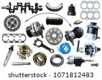 big collection of mechanical... | Shutterstock . vector #1071812483
