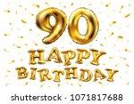vector happy birthday 90th... | Shutterstock .eps vector #1071817688