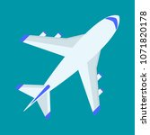 airplane flat vector cartoon... | Shutterstock .eps vector #1071820178