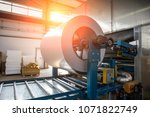industrial galvanized steel... | Shutterstock . vector #1071822749