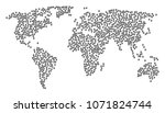 geographic collage map... | Shutterstock . vector #1071824744