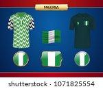 football nigeria jersey. vector ...   Shutterstock .eps vector #1071825554