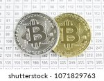 cryptocurrency golden and... | Shutterstock . vector #1071829763