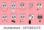 a set of emoji  a set of... | Shutterstock . vector #1071831173