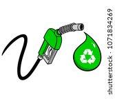 bio fuel pump price drop   a... | Shutterstock .eps vector #1071834269