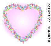 heart shape pattern of colorful ...   Shutterstock .eps vector #1071836630