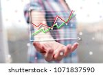 business analysis concept above ... | Shutterstock . vector #1071837590