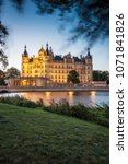 schwerin palace  or schwerin...   Shutterstock . vector #1071841826