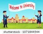 welcome to university. vector... | Shutterstock .eps vector #1071844544