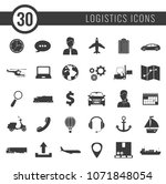 logistics icons set. delivery... | Shutterstock .eps vector #1071848054
