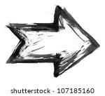 black ink sketch arrow isolated ... | Shutterstock . vector #107185160