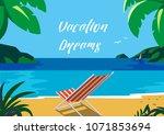 summer time seaside landscape.... | Shutterstock . vector #1071853694