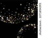 festive gold star dust sparkle... | Shutterstock .eps vector #1071854393