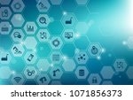 digitalization concept ... | Shutterstock .eps vector #1071856373