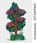 tree forest isolated   Shutterstock .eps vector #1071859403