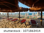 morning paradise white sandy... | Shutterstock . vector #1071863414