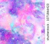 marbled galaxy print | Shutterstock . vector #1071866423