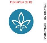 vector florincoin  flo  digital ...   Shutterstock .eps vector #1071866963