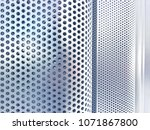 perforated metal plate wall | Shutterstock . vector #1071867800