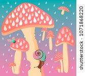Vector Illustration. Mushrooms...