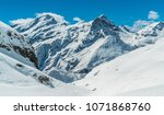 monte rosa with glacier  at... | Shutterstock . vector #1071868760