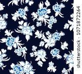 seamless vector flowers pattern ... | Shutterstock .eps vector #1071872264