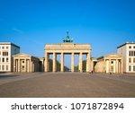 brandenburg gate in berlin ... | Shutterstock . vector #1071872894