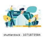 vector illustration  customer... | Shutterstock .eps vector #1071873584