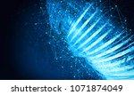 3d rendering of technology... | Shutterstock . vector #1071874049