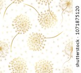seamless pattern with flowers... | Shutterstock .eps vector #1071875120
