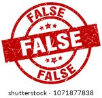 false round red grunge stamp | Shutterstock .eps vector #1071877838