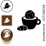 coffee or chocolate  and... | Shutterstock .eps vector #107188268