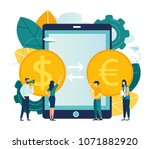 vector illustration  currency... | Shutterstock .eps vector #1071882920