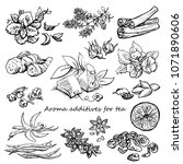 aroma additives for tea herbal... | Shutterstock .eps vector #1071890606