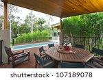 modern backyard with... | Shutterstock . vector #107189078